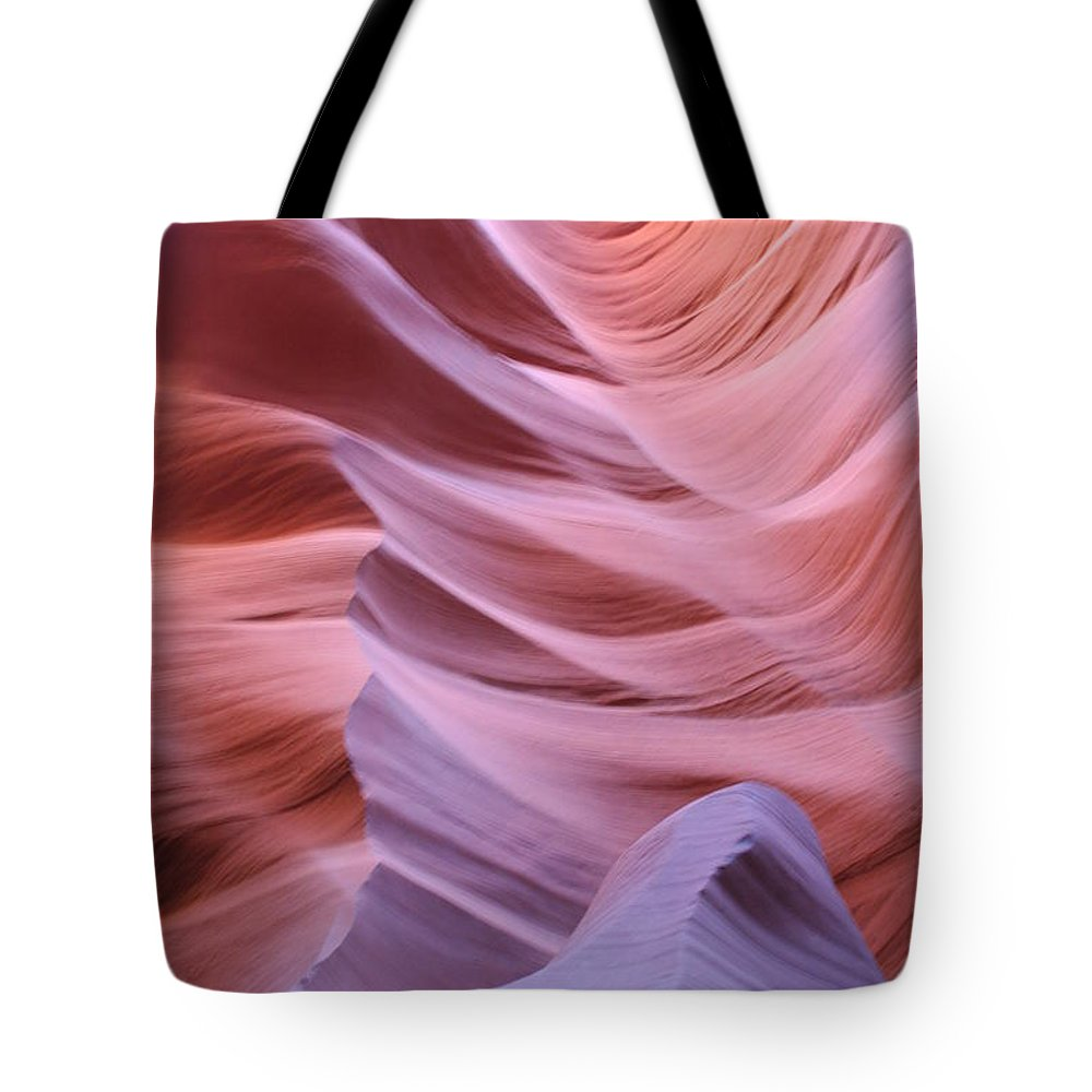 Narrow Canyon Tote Bag featuring the photograph Floating Stone by Christiane Schulze Art And Photography