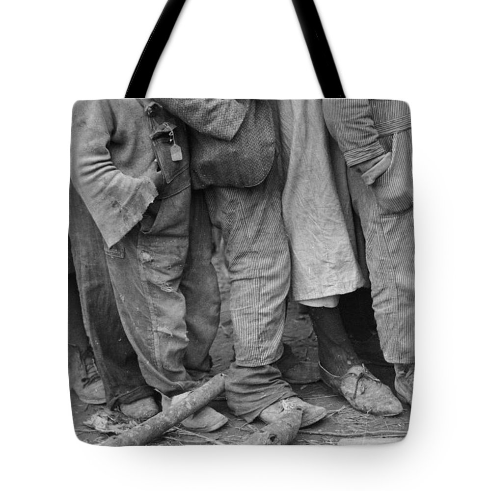 1937 Tote Bag featuring the photograph Flood Refugees, 1937 by Granger