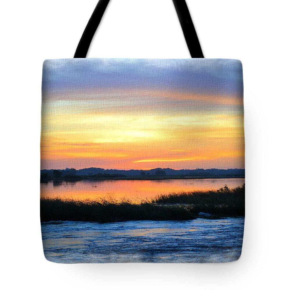 Marsh Tote Bag featuring the photograph Flooded River by Bonfire Photography