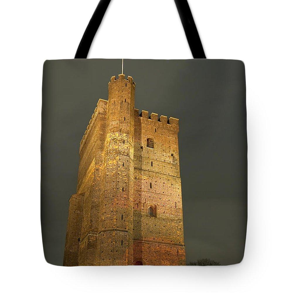 Illuminated Tote Bag featuring the photograph Floodlit Karnan 01 by Antony McAulay