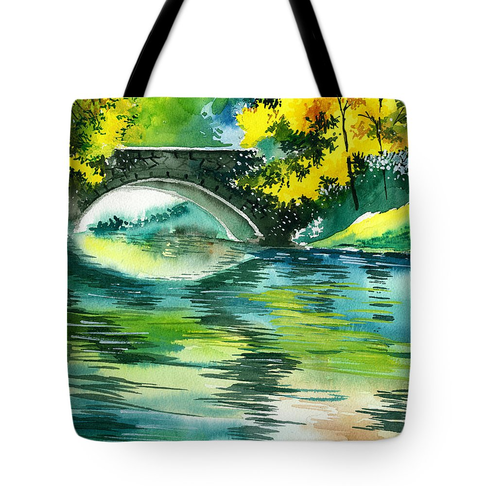 Nature Tote Bag featuring the painting Floods R by Anil Nene