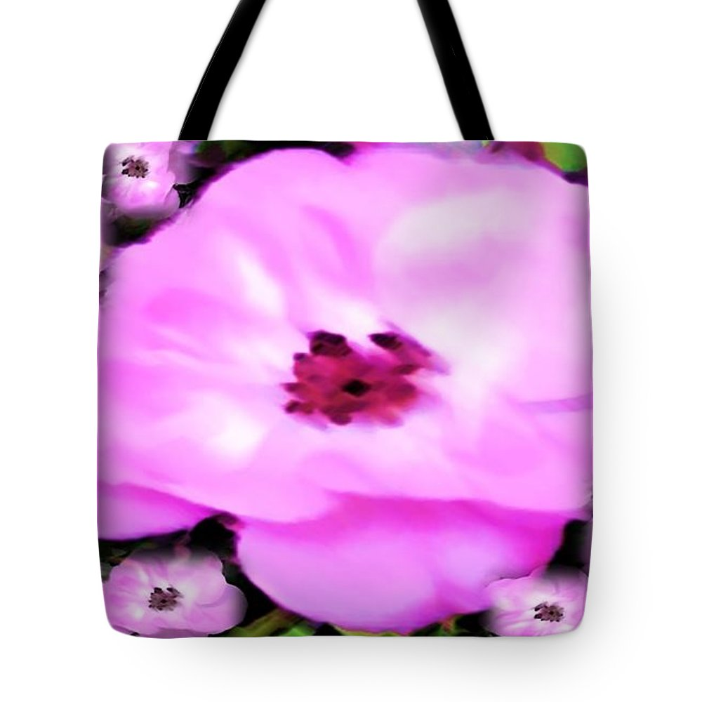 Floral Tote Bag featuring the painting Floral Arrangement by Catherine Lott