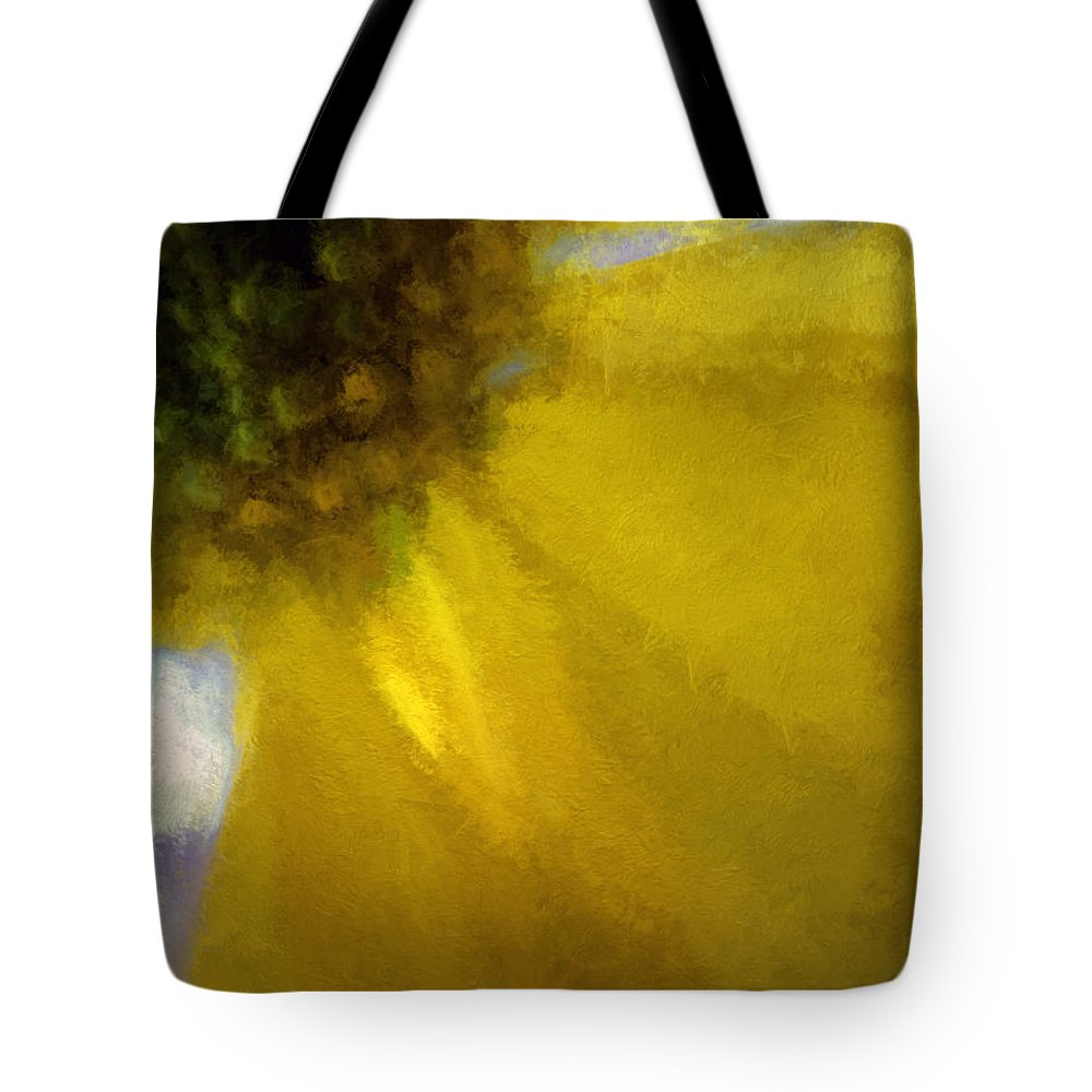 Flowers Tote Bag featuring the digital art Floral Art Xxxi by Tina Baxter