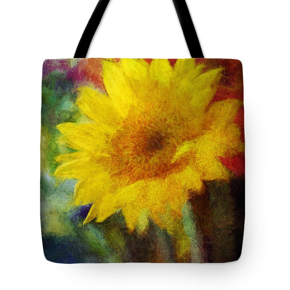 Flowers Tote Bag featuring the digital art Floral Art Xxxvi by Tina Baxter