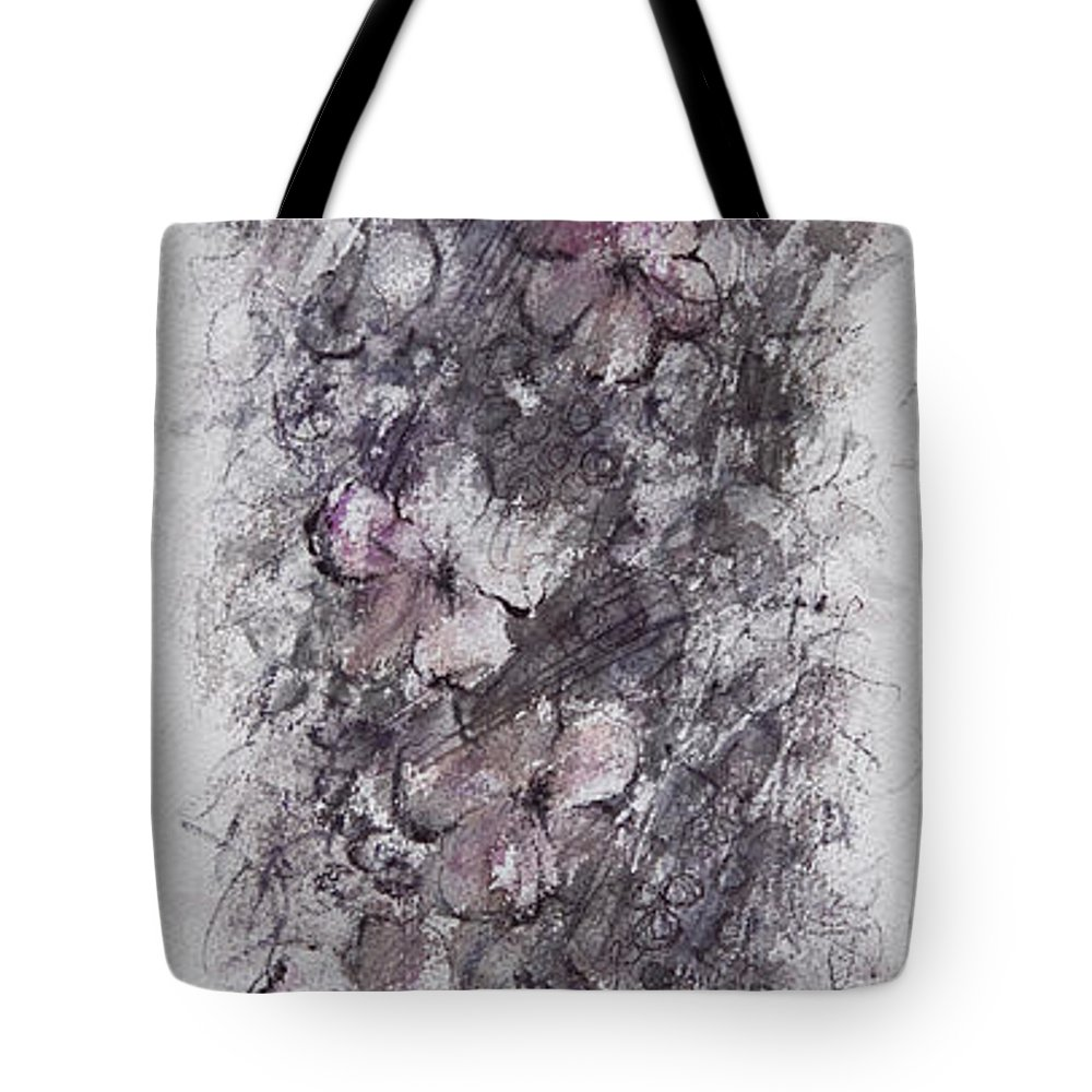 Floral Tote Bag featuring the painting floral cascade II by William Russell Nowicki