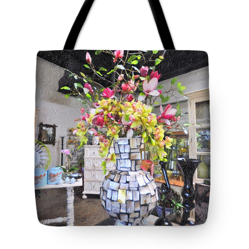 Floral Decor Tote Bag featuring the photograph Floral Decor by Liane Wright