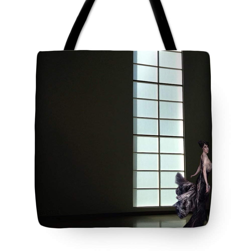 Florence Blumenthal Tote Bag featuring the photograph Florence Blumenthal Haunts The Halls by Natasha Marco