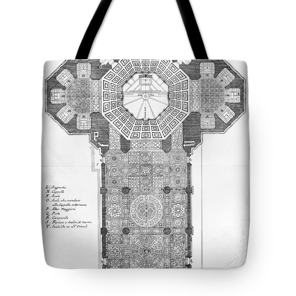 18th Century Tote Bag featuring the photograph Florence: Cathedral by Granger