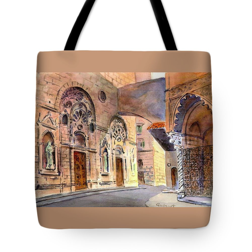 Florence Tote Bag featuring the painting Florence Italy by Kathleen Gwinnett
