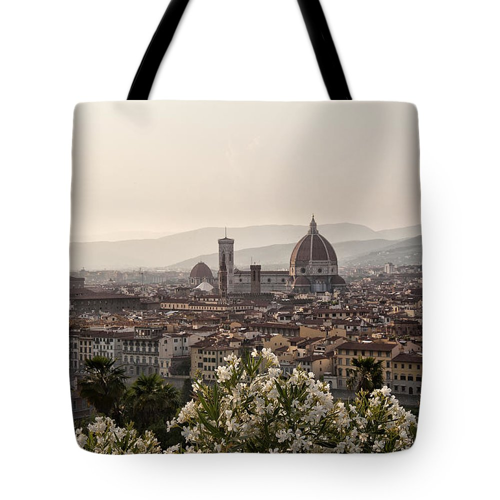 Architecture Art Tote Bag featuring the photograph Florence Italy by Melany Sarafis
