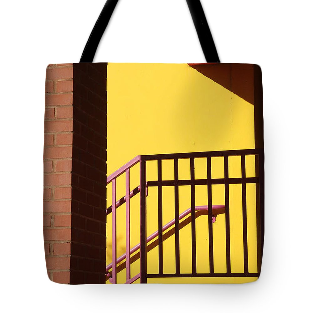Ross Lewis Tote Bag featuring the photograph Shadowrails At Golden Hour by Ross Lewis