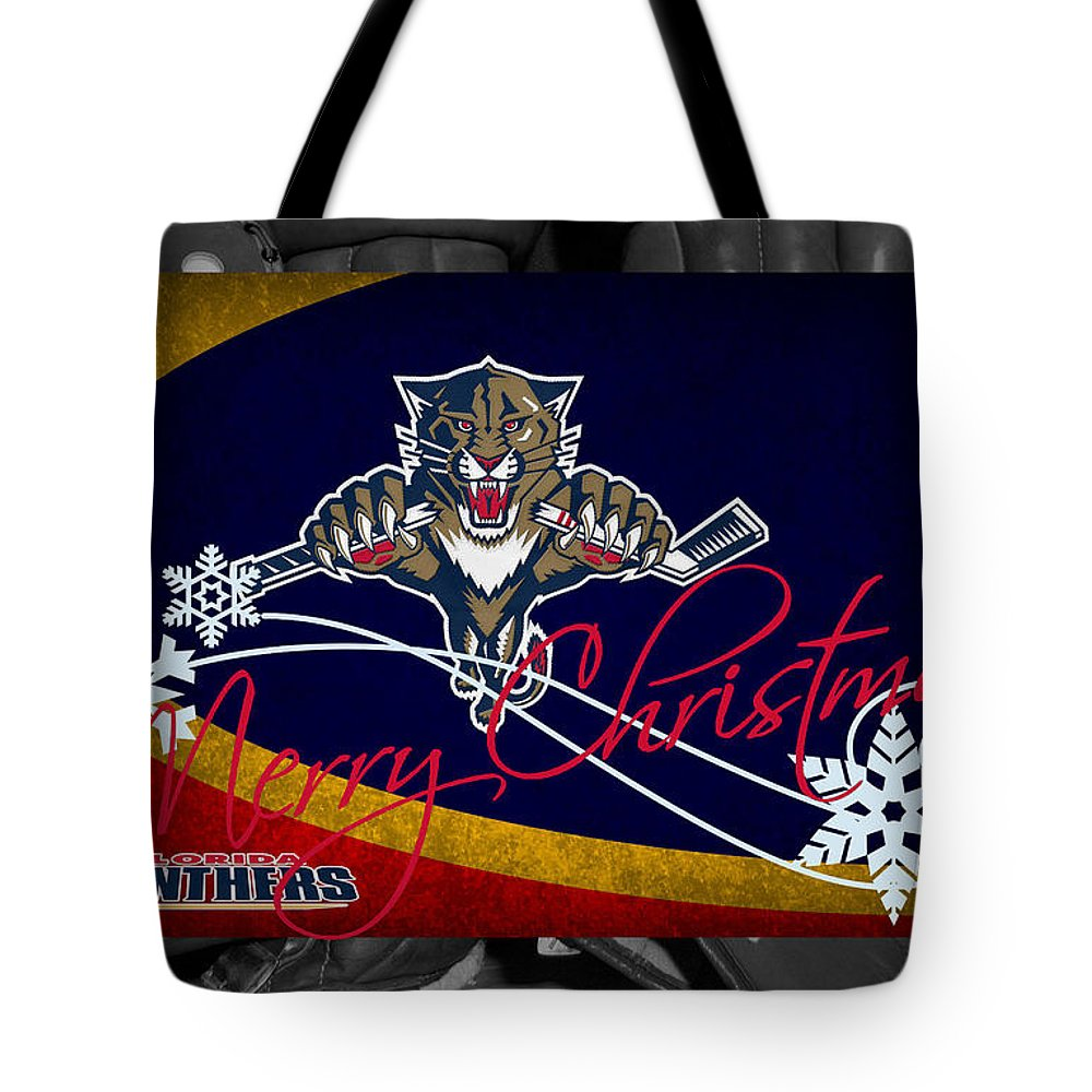 Panthers Tote Bag featuring the photograph Florida Panthers Christmas by Joe Hamilton
