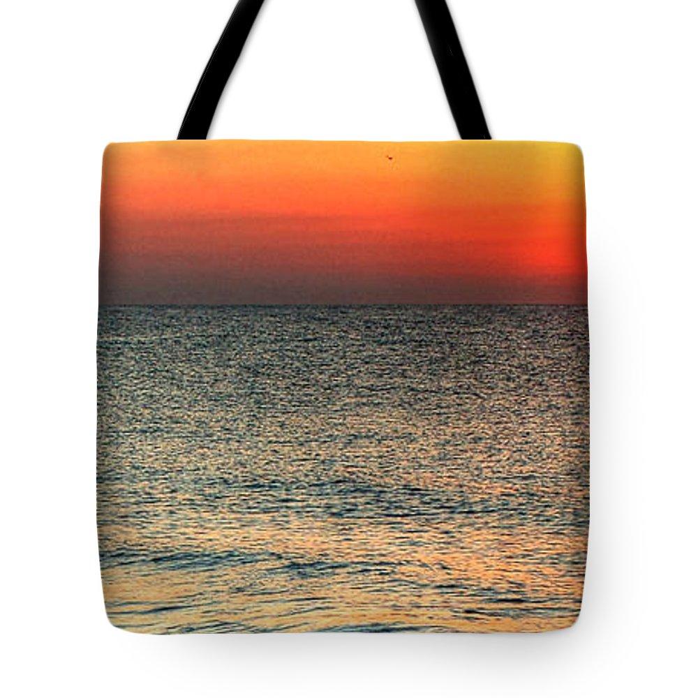 Alabama Tote Bag featuring the digital art Florida Point Sunrise by Michael Thomas