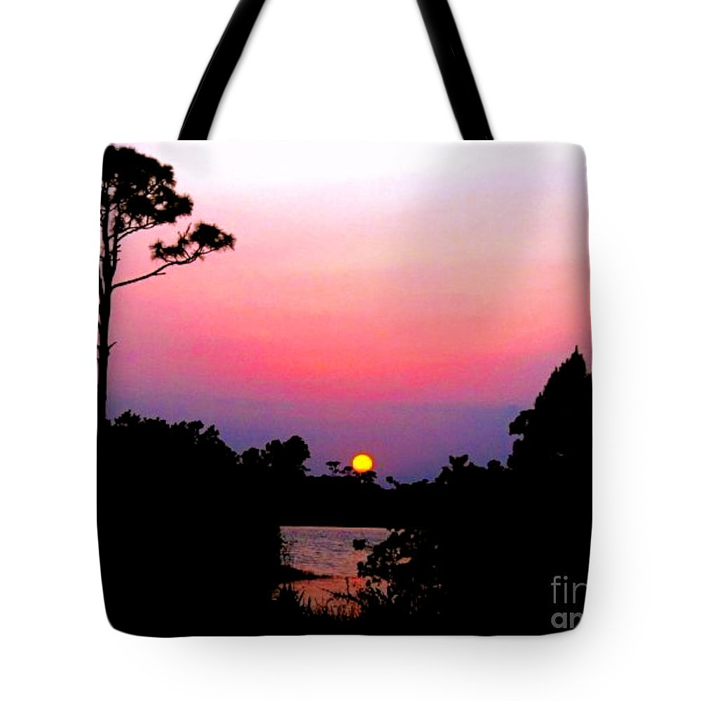 Florida Tote Bag featuring the photograph Florida Sunset by Anita Lewis