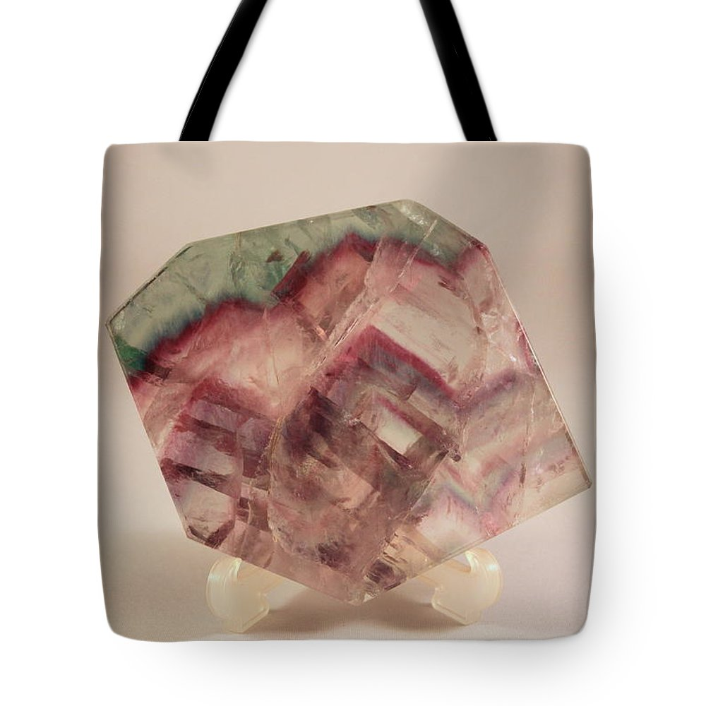 Fluorite Tote Bag featuring the photograph Fluorite by Kevin F Cook