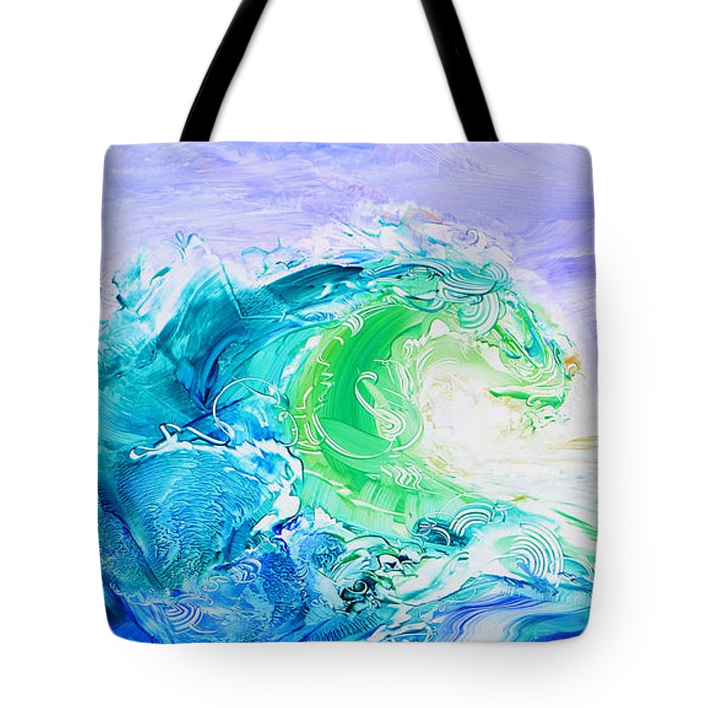 Hawaii Tote Bag featuring the painting Flow-bright Horizon by Susan Card