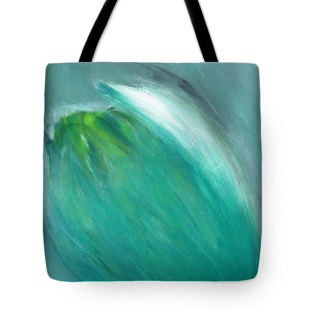 Flower Tote Bag featuring the painting Flower Bud by Alina Cristina Frent