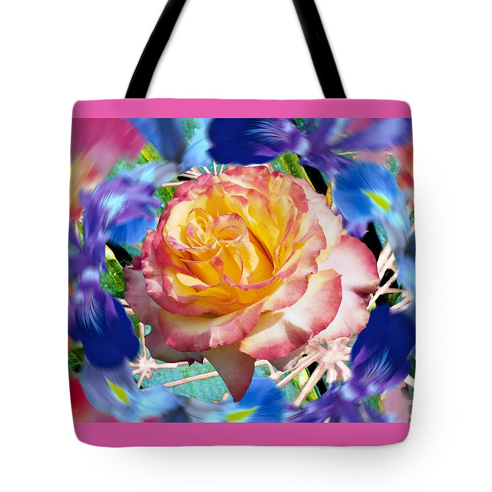 Flowers Tote Bag featuring the digital art Flower Dance 2 by Lisa Yount