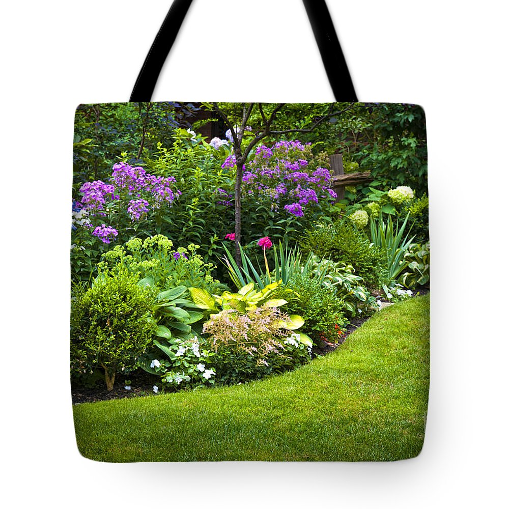 Garden Tote Bag featuring the photograph Flower Garden by Elena Elisseeva