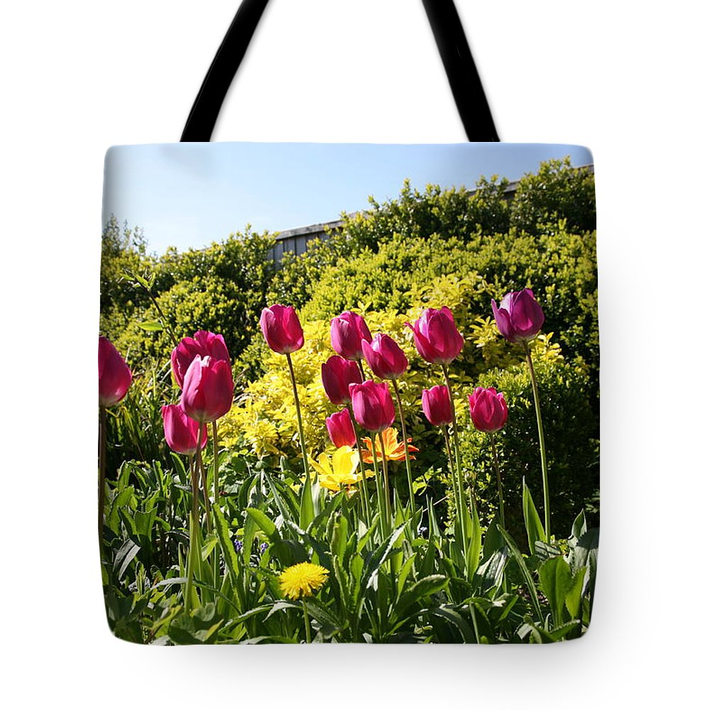 Tulip Tote Bag featuring the photograph Flower Garden by Mark Severn