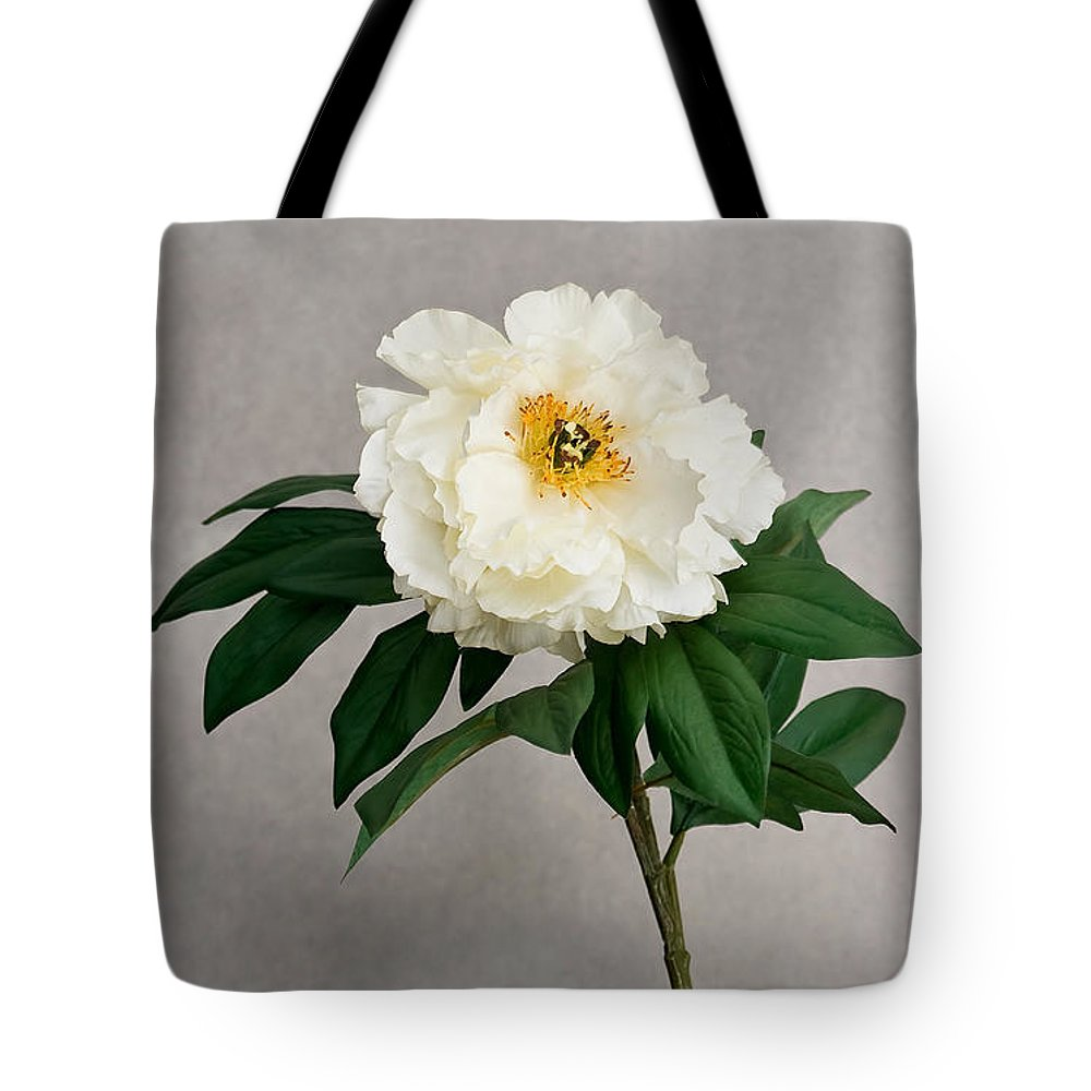Flower Tote Bag featuring the photograph Flower In Vase by Jean-Pierre Ducondi