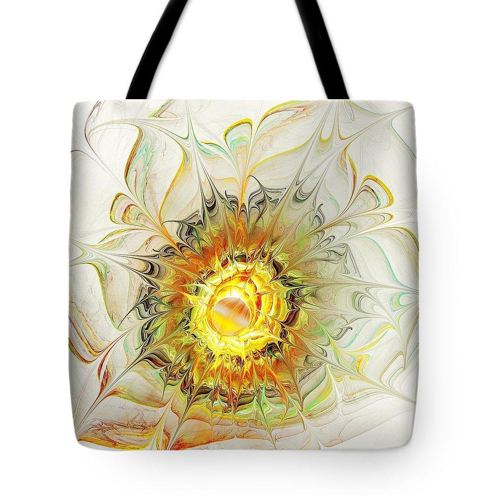 Plant Tote Bag featuring the digital art Flower Palette by Anastasiya Malakhova
