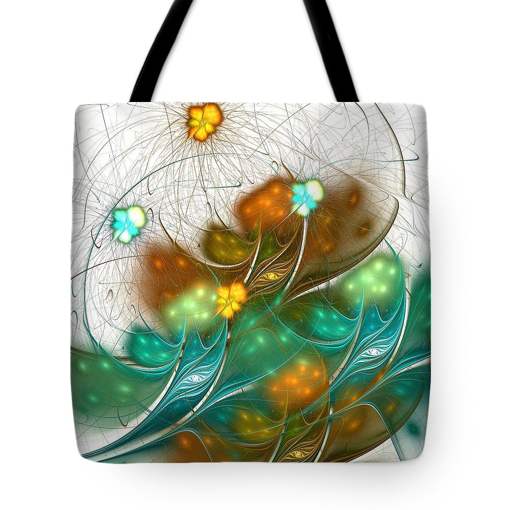Malakhova Tote Bag featuring the digital art Flower Wind by Anastasiya Malakhova