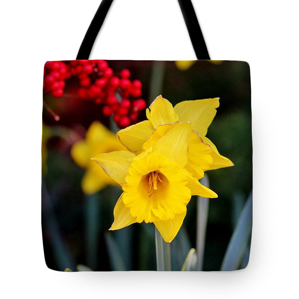 Wildlife Tote Bag featuring the photograph Flowers And Berries 030515ab by Edward Dobosh