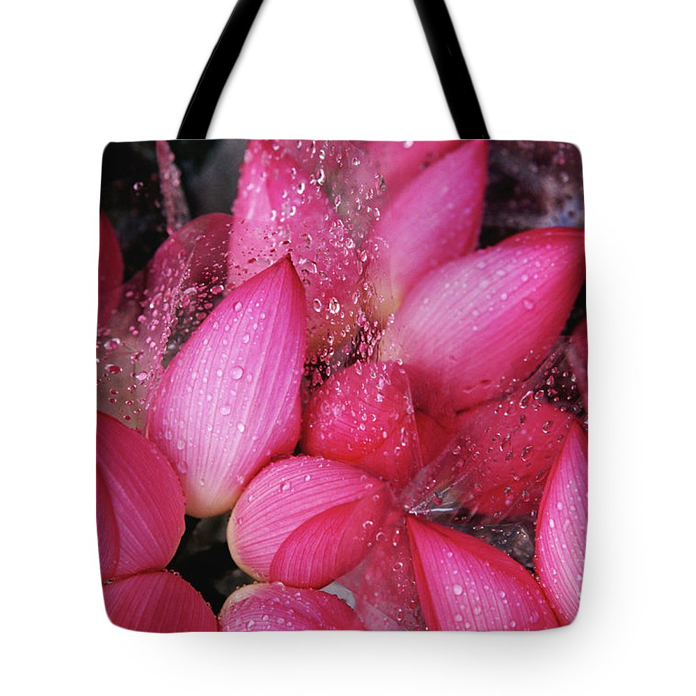 Retail Tote Bag featuring the photograph Flowers For Sale At Yuen Po Street by Richard I'anson