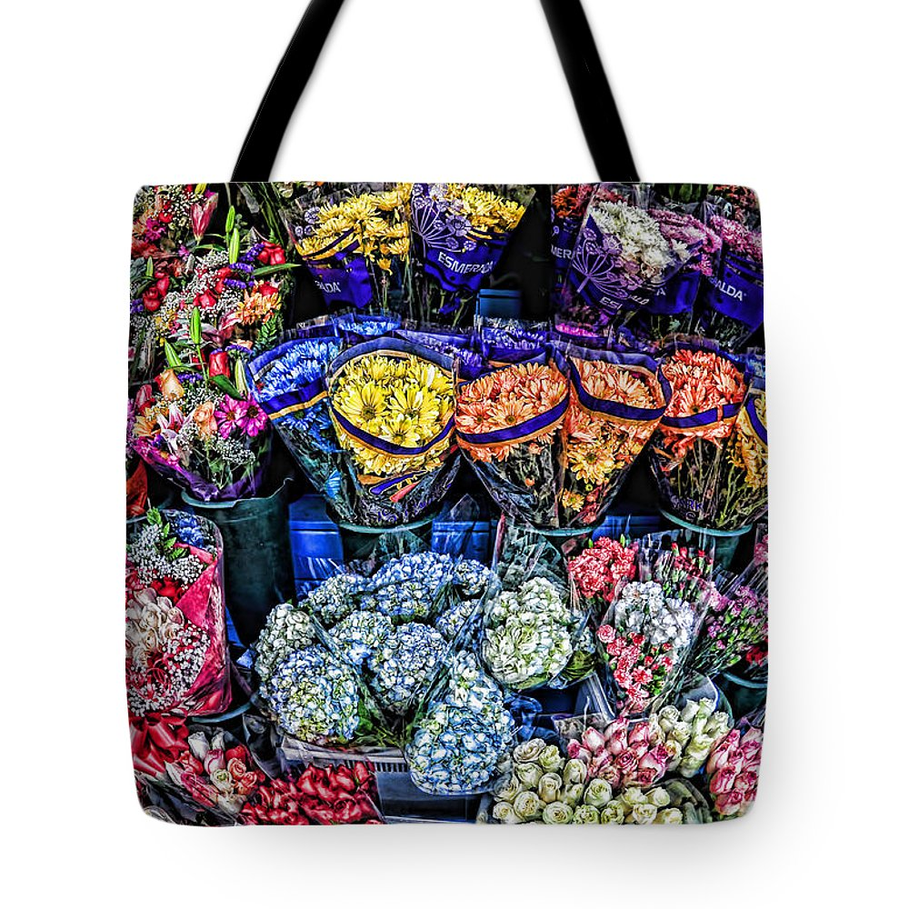 Flowers Tote Bag featuring the photograph Flowers Galore by Tina Baxter