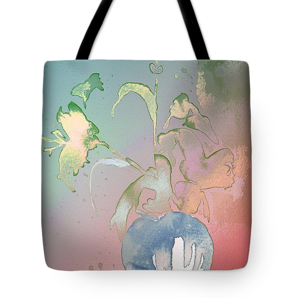 Flowers Tote Bag featuring the painting Flowers Ghosts by Miki De Goodaboom