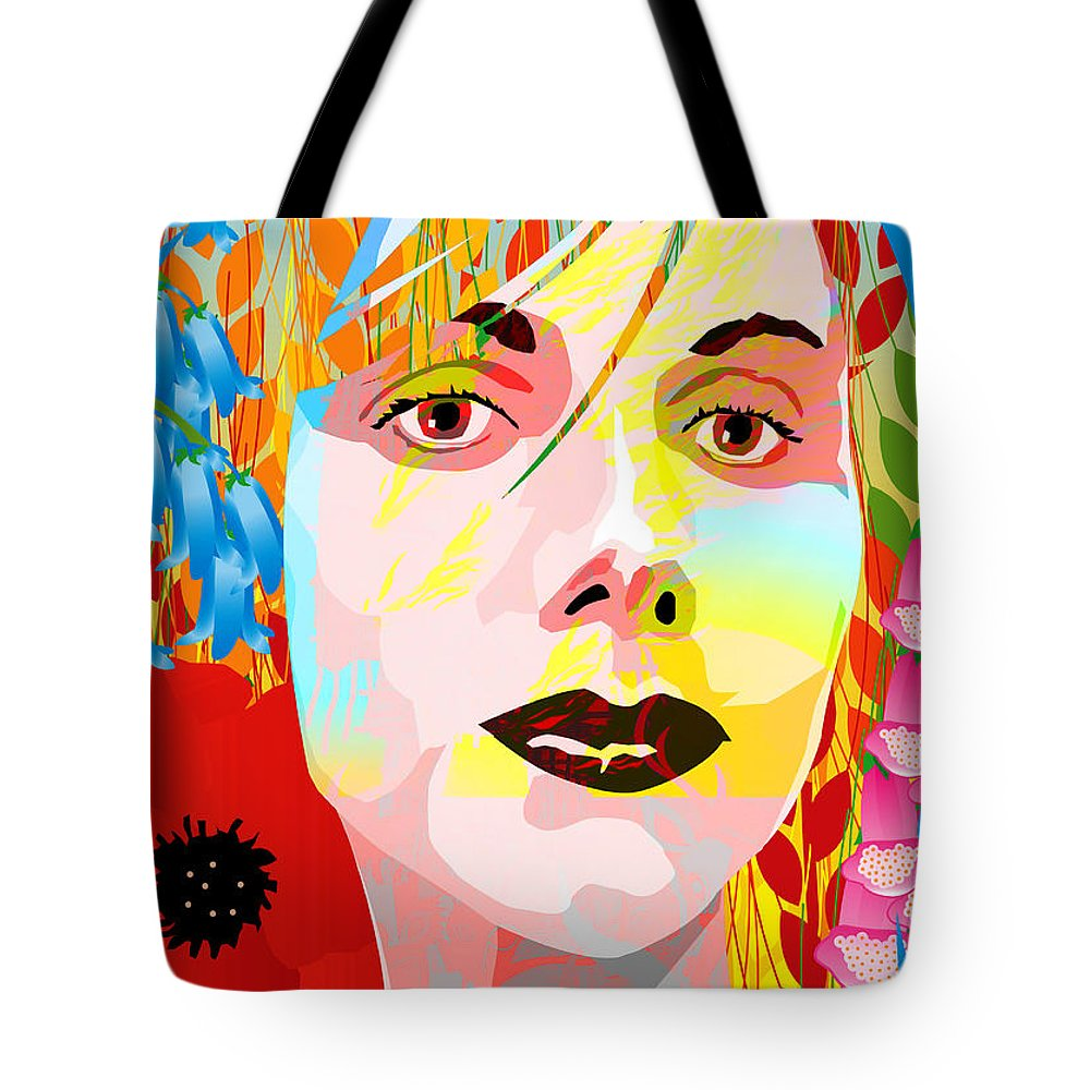 Autumn Tote Bag featuring the painting Flowers In Their Hair by Neil Finnemore
