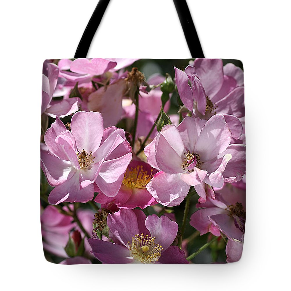 Rose Tote Bag featuring the photograph Flowers- Mass Roses by Joy Watson