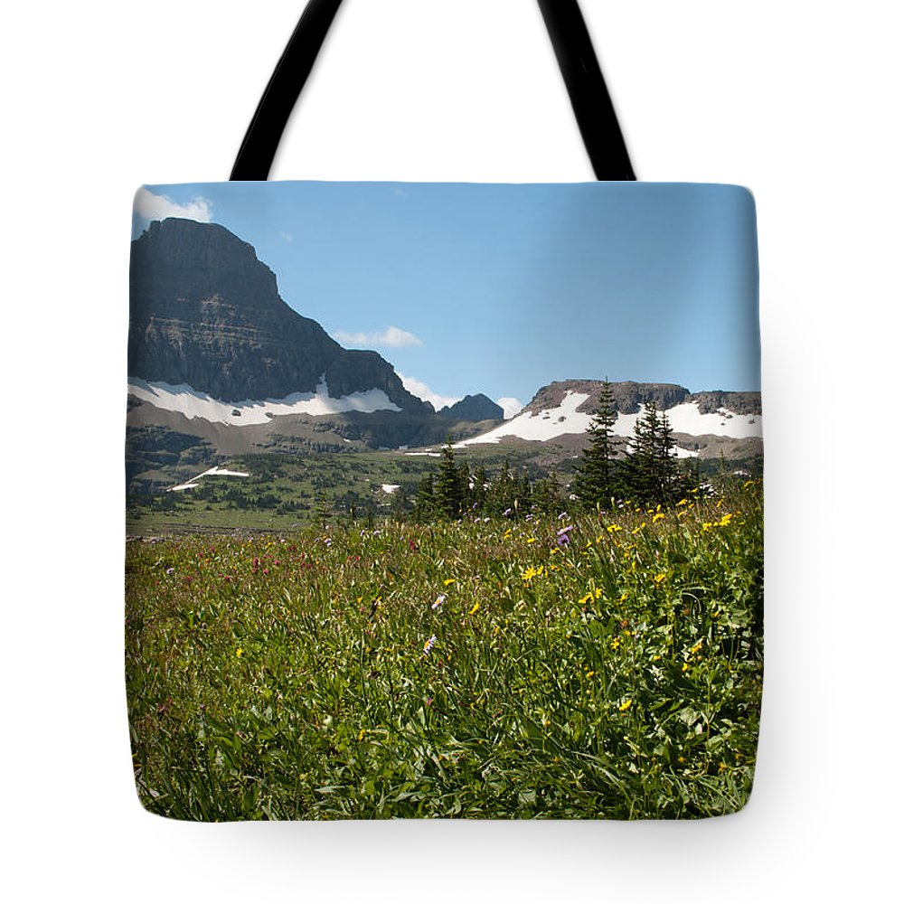 Wildflowers Tote Bag featuring the photograph Flowers On Logan Pass by Bruce Gourley