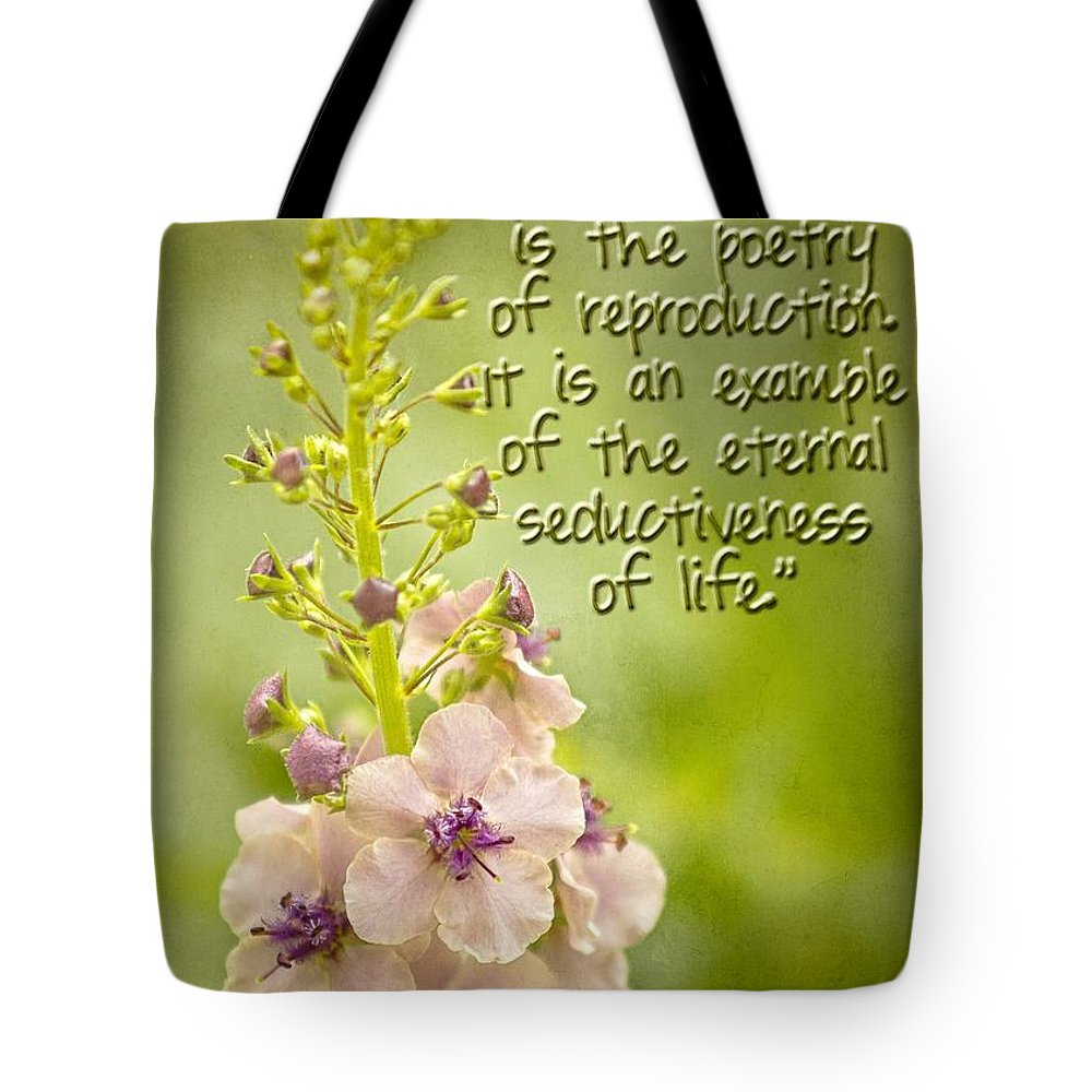 Verbascum Blattaria Tote Bag featuring the photograph Flowers by Peggy Hughes