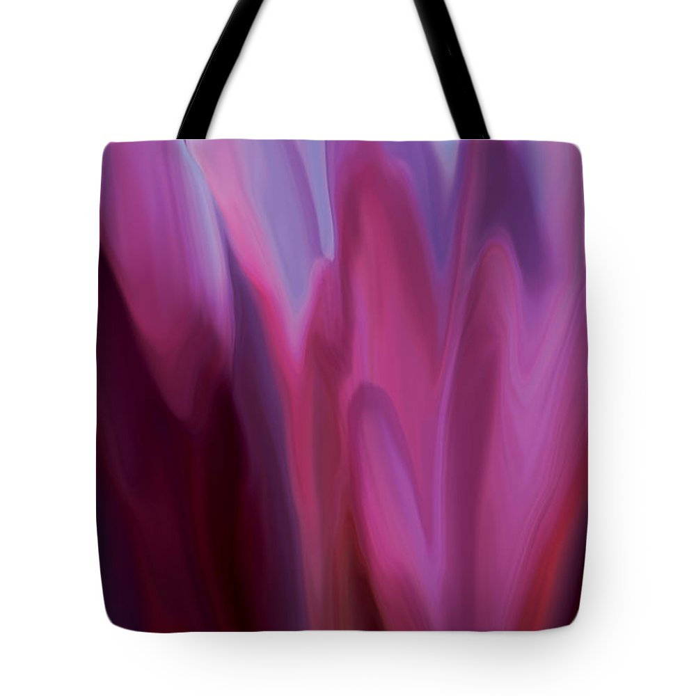 Botanical Tote Bag featuring the digital art Flowery 1 by Rabi Khan