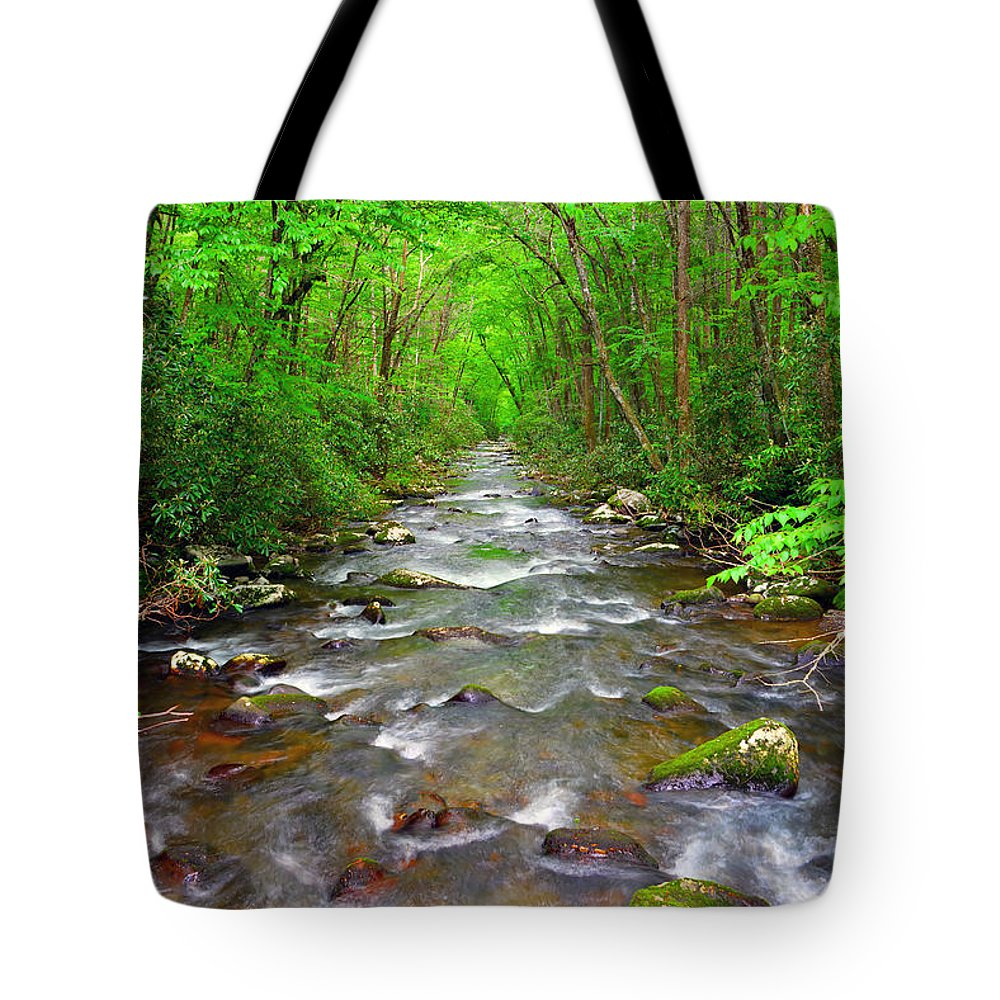 River Tote Bag featuring the photograph Flowing by David Lee Thompson