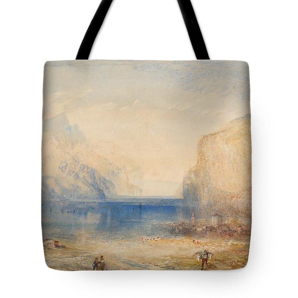 1845 Tote Bag featuring the painting Fluelen - Morning by JMW Turner