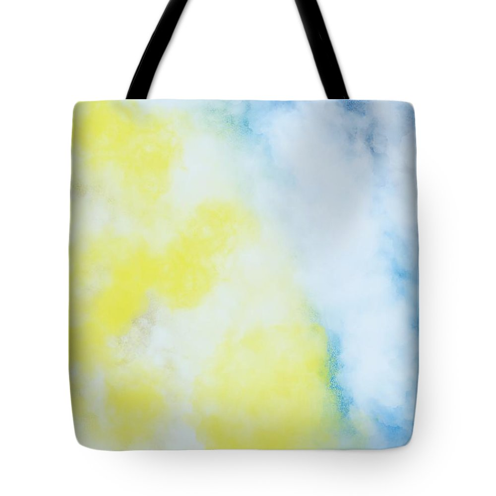 Fluffy Tote Bag featuring the painting Fluffy Sky Egg by Bill Minkowitz