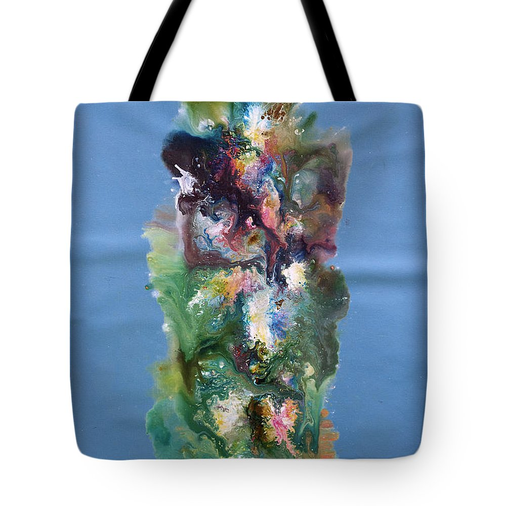 Fluid Tote Bag featuring the painting Fluidity 3 by Sumit Mehndiratta