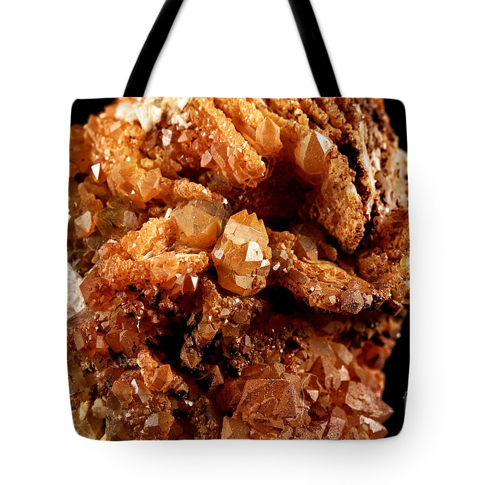 Fluorite Tote Bag featuring the photograph Fluorite by John Rizzuto
