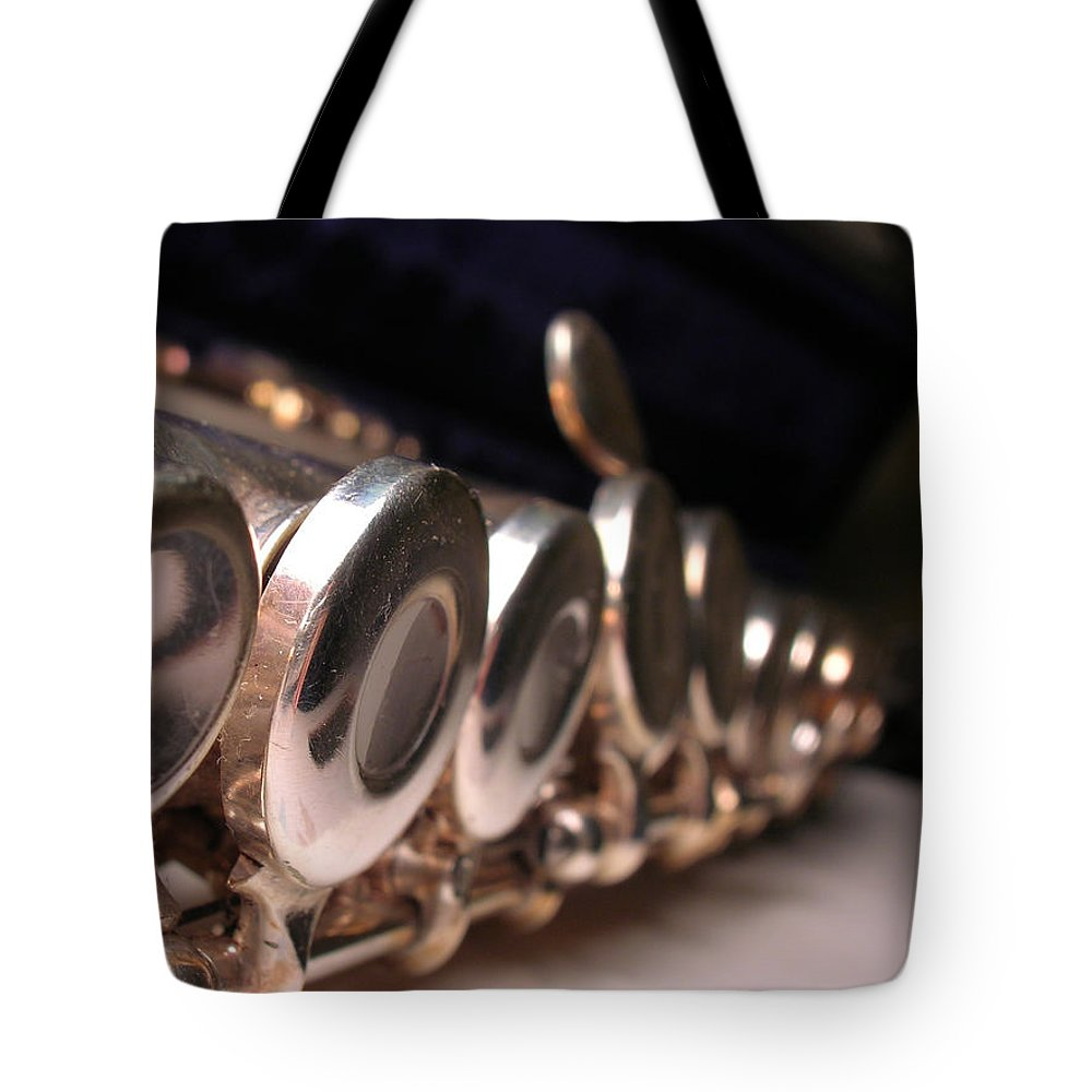 Flute Tote Bag featuring the photograph Flute by Susan Porter