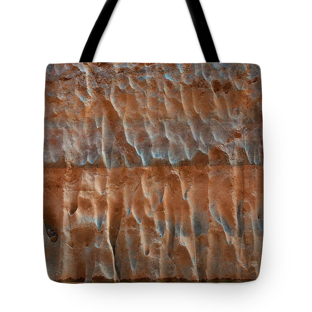 Nature's Art Tote Bag featuring the photograph Fluted Wall by Britt Runyon