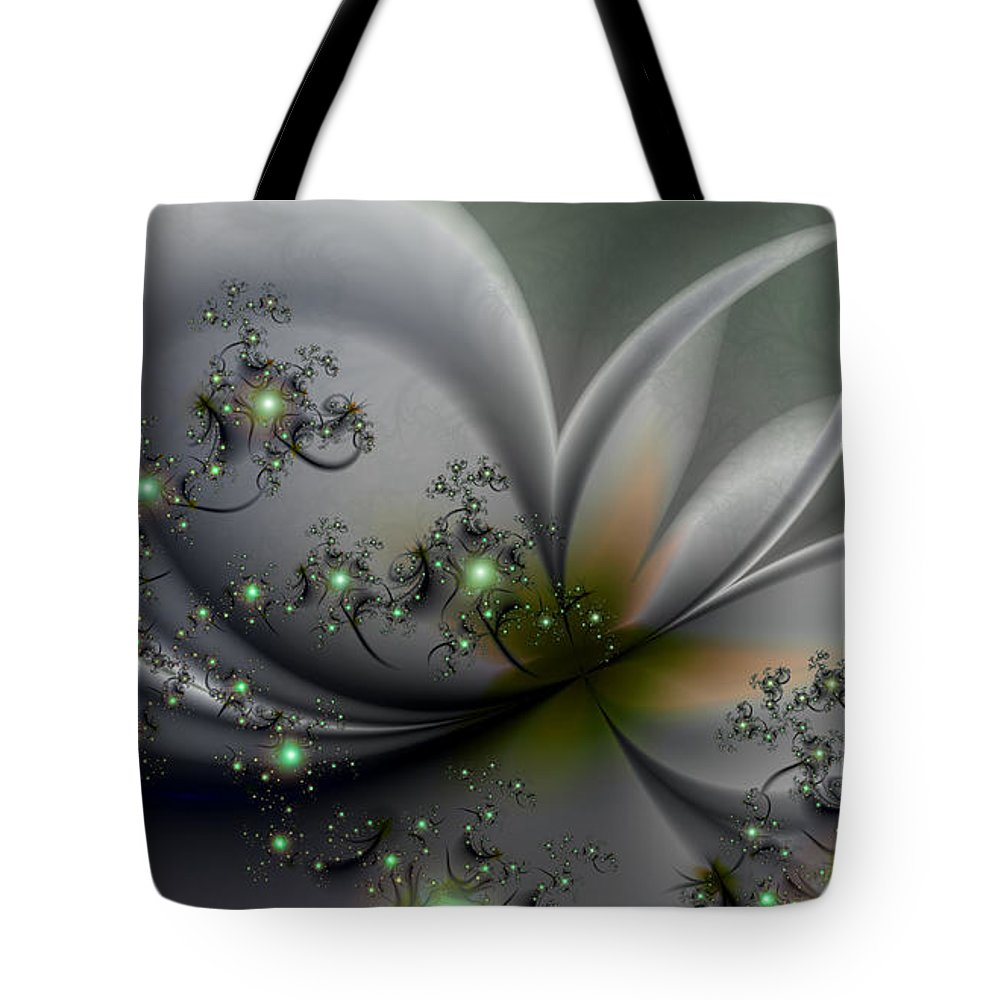 Flutterby Tote Bag featuring the digital art Flutterby by Kimberly Hansen