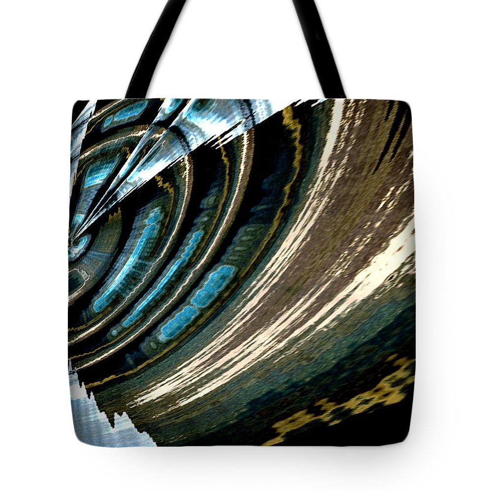 Abstract Tote Bag featuring the painting Fly Away by Gerlinde Keating - Galleria GK Keating Associates Inc