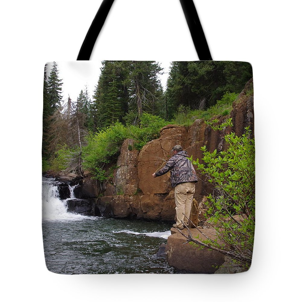 Mountain Stream Tote Bag featuring the photograph Fly Fisherman's Paradise by Mike and Sharon Mathews