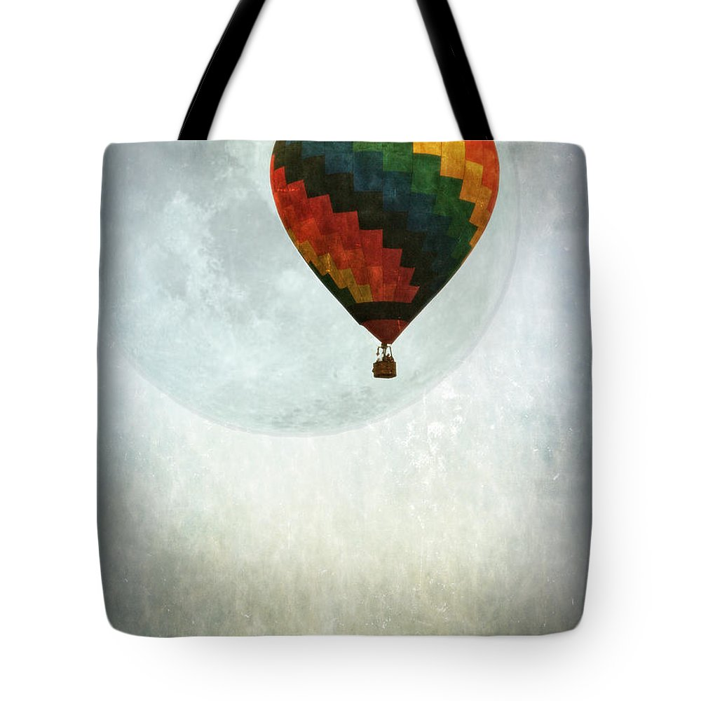 Balloon Tote Bag featuring the photograph Fly Me To The Moon by Lisa Bryant