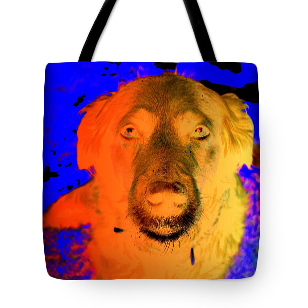 Dog Tote Bag featuring the photograph You Must Come With Me And Fly Off To See My Master In The Sky by Hilde Widerberg