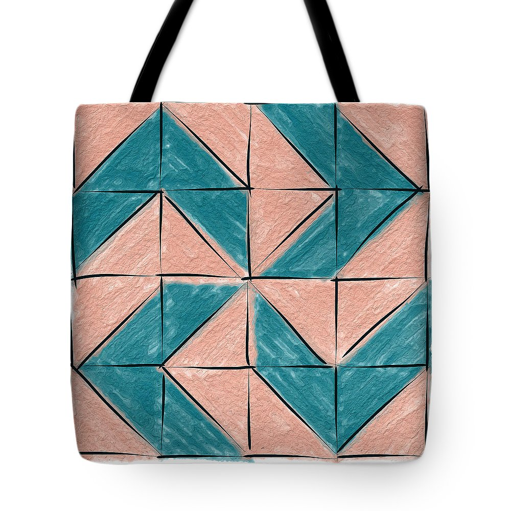 Chevron Tote Bag featuring the painting Flyfoot Quilt Block 1 by Sandy MacGowan