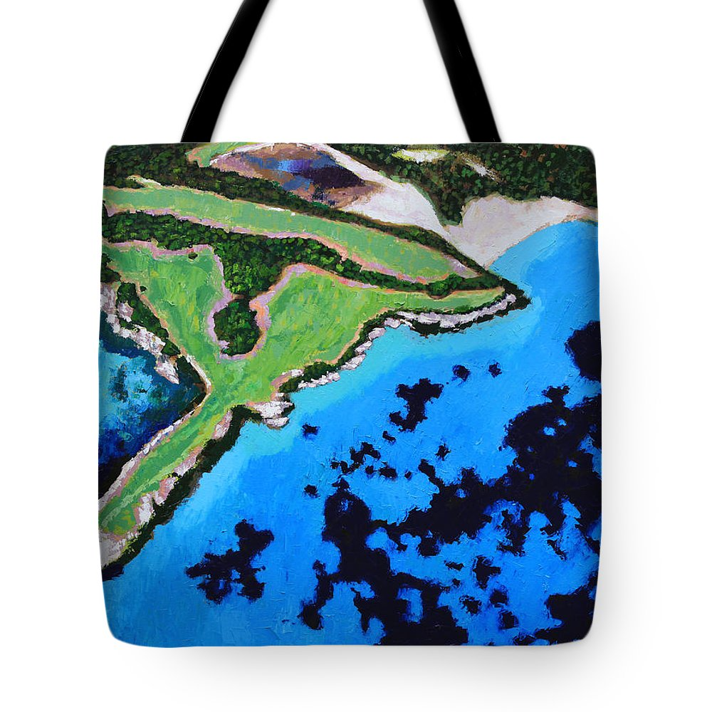 Ocean Tote Bag featuring the painting Flying High by John Lautermilch